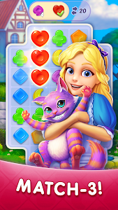 WonderMatch™-Match-3 Puzzle Alice's Adventure 2020 2.4.1 (Mod)