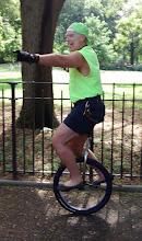 Photo: UNICYCLING TOMPKINS SQ. PARK NYC AUG. 2015