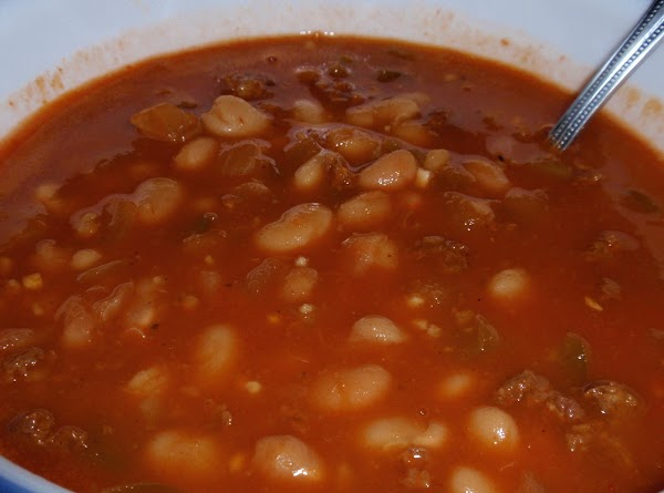 As pictured: I cooked 1 pound great northern beans in my pressure cooker with...