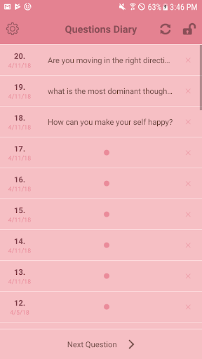 Questions Diary:One self-reflection question. 1.8.0 screenshots 3