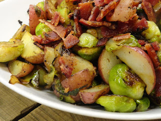 Rosemary Bacon Brussels Sprouts & New Potatoes Recipe