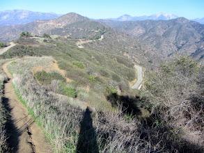 Photo: View northeast toward Glendora Mountain and Glendora Mountain Road from the north ridge of Summit 2583