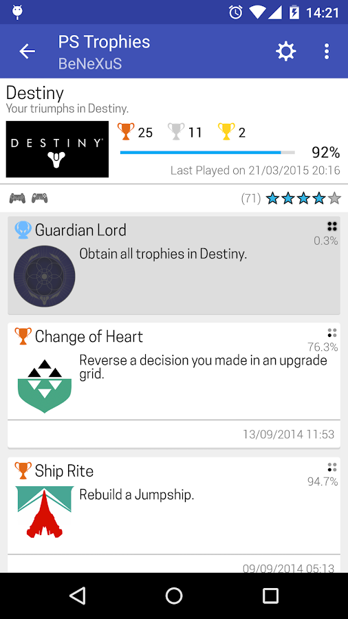 PS Trophies Lite - screenshot