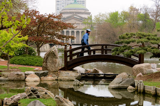 Photo: Japanese Garden with Museum of Science & Industry