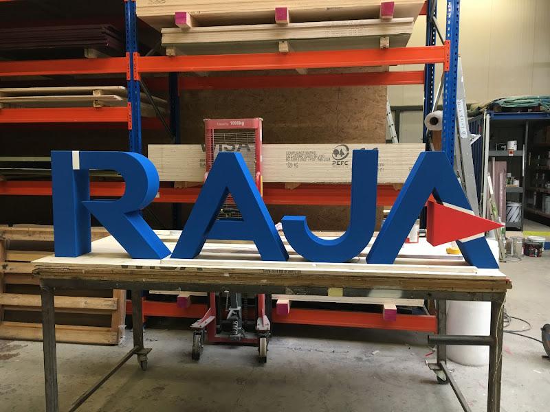 3D letters & logo's uit EPS en XPS - 3D letters RAJA