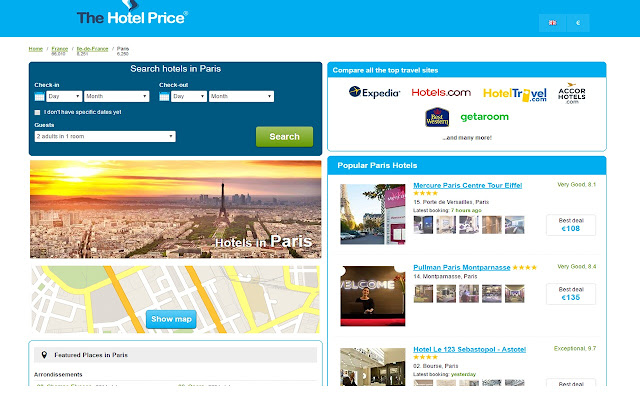 Best Hotel Deals in Paris -Hotel Price Finder