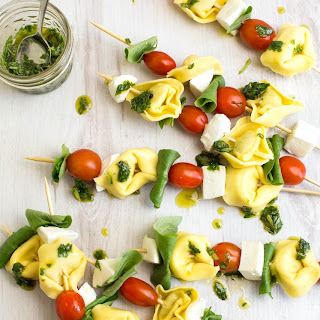 Try These Caprese Tortellini Skewers for Your Summer Bash.