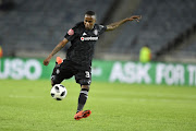 Thembinkosi Lorch of Orlando Pirates takes a shot during the Absa Premiership match against Cape Town City FC at Orlando Stadium in Soweto.
