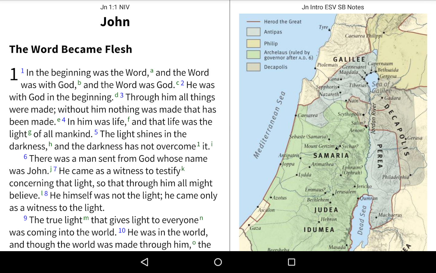 NIV Bible by Olive Tree- screenshot
