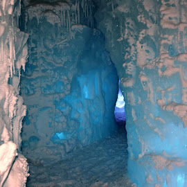Lake Geneva Ice Castles Tunnels by Beth Bowman - Nature Up Close Other Natural Objects