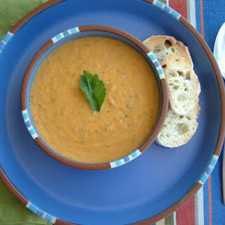 Sweet Pepper and Heirloom Tomato Gazpacho