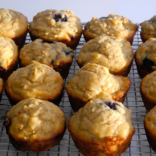 Oatmeal and Blueberry Muffins