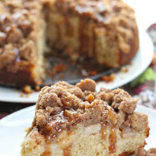 Apple And Caramel Coffee Cake.
