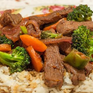 Slow Cooker Teriyaki Beef and Broccoli Stew.