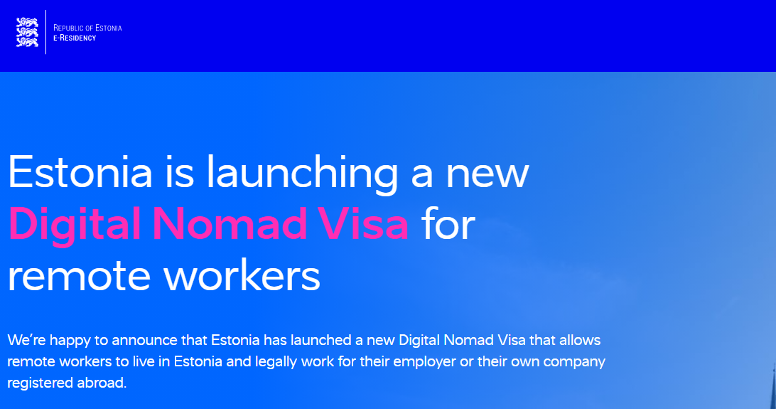 Visas para nómadas digitales Estonia Digital nomad