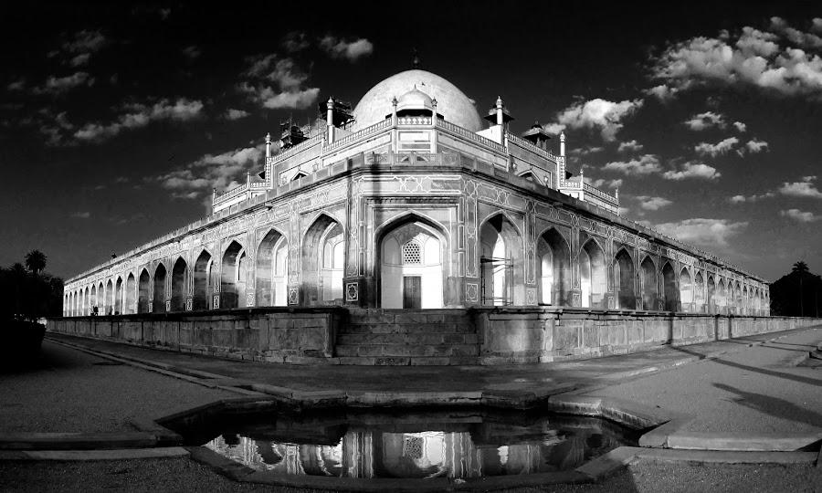 Humayun's tomb by Saptarshi Mandal - Buildings & Architecture Public & Historical ( history, reflection, building, art, fine art, india, travel, architecture, historical, shade, mughal, light )