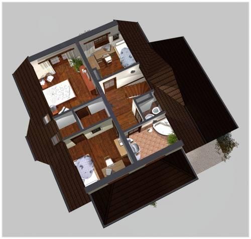 APS 126 - Rzut piętra 3D