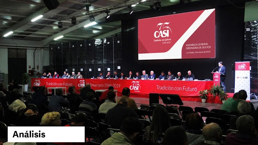 Imagen de una de las últimas asamblea de la CASI en Los Partidores.