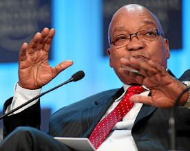 Photo: DAVOS/SWITZERLAND, 26JAN12 - Jacob G. Zuma, President of South Africa is captured during the session 'Africa -- From Transition to Transformationy' at the Annual Meeting 2012 of the World Economic Forum at the congress centre in Davos, Switzerland, January 26, 2012.  Copyright by World Economic Forum swiss-image.ch/Photo by Monika Flueckiger