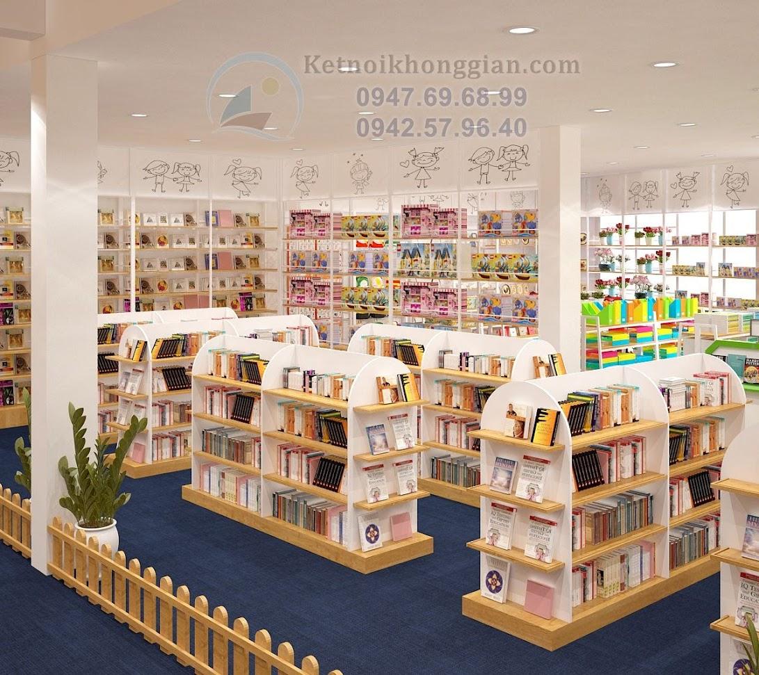 thiết kế nội thất nhà sách đẳng cấp