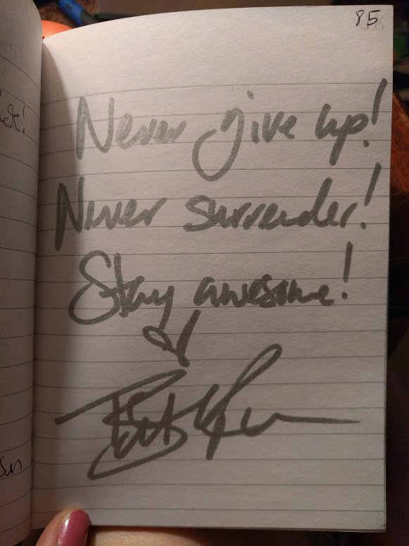 Beth's signature in my journal