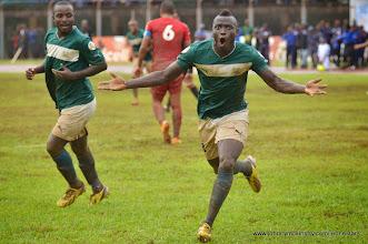 Photo: Alhassan 'Crespo' Kamara celebrates putting the Leone Stars 3:0  [Leone Stars Vs. Equatorial Guinea, 7 Sept 2013 (Pic: Darren McKinstry)]