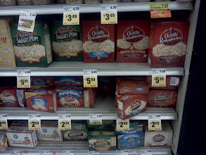 Photo: Here is all the Orville Redenbacher popcorn that Save Mart offers, I was hoping for more choices but this was still good. I got the Classic Recipe.