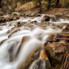 Baker Creek by Lisa Kidd - Landscapes Waterscapes ( idaho, waterfalls, creek, river )