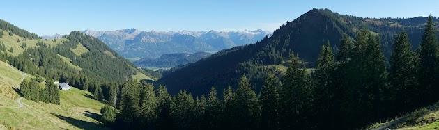 Blick zum Daumen Nebelhorn Hochvogel Wannenkopf