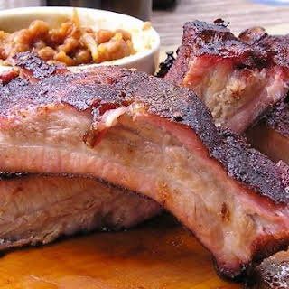 Baked BBQ'd Beef Back Ribs.
