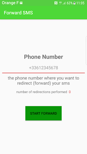 redirection sms android