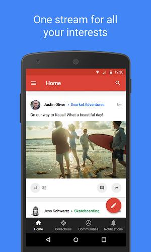 Google+ Android App Screenshot