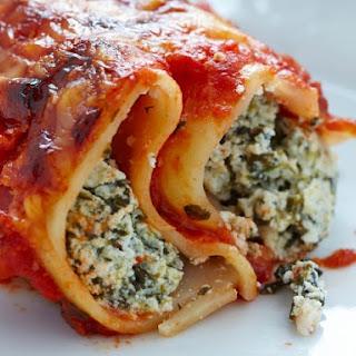 Make Ahead Spinach Manicotti.