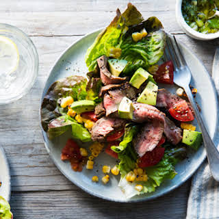Southwestern Grilled Steak Salad with Charred Onion Dressing.