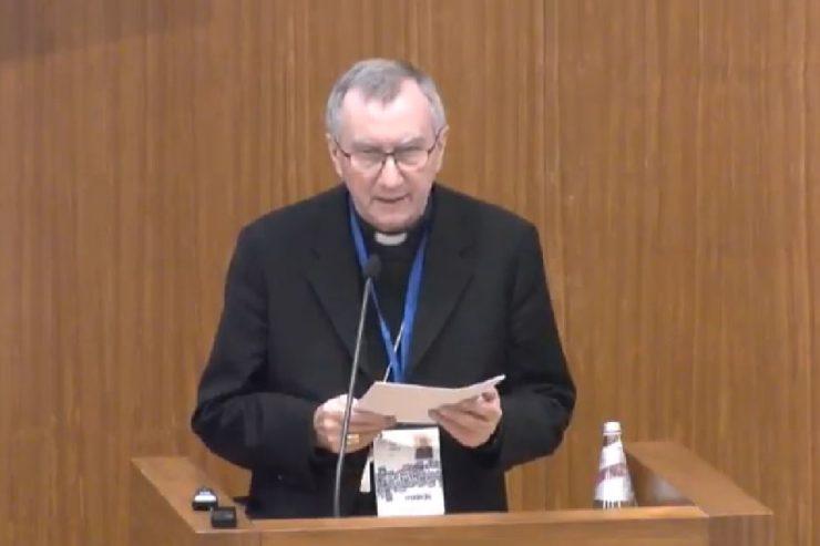 Cardinal Paroline at Child Dignity in Digital World -- screenshot from live broadcast