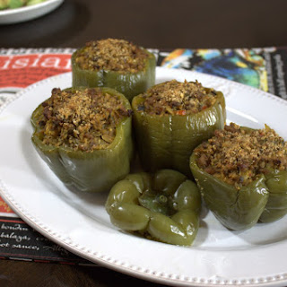 "Dirty ""Rice"" Stuffed Bell Peppers"