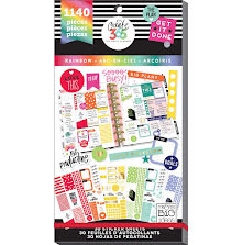 Me & My Big Ideas Happy Planner Sticker Value Pack - CLASSIC Rainbow