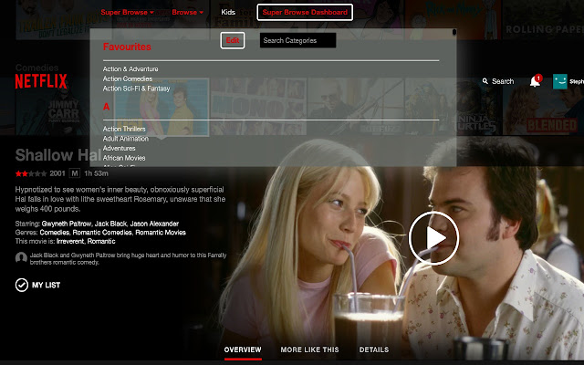 Super Browse for Netflix Screenshot