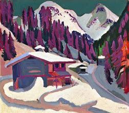 """Photo: Ernst Ludwig Kirchner, """"Wildboden nella neve"""""""