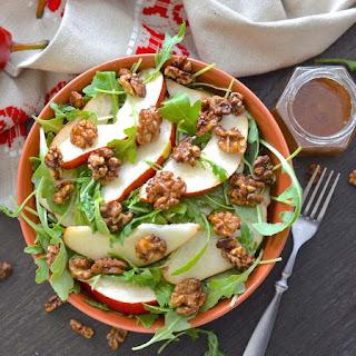 Pear Walnut Salad with Maple Cinnamon Dressing