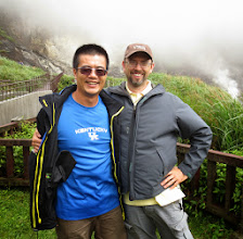 Photo: My friend and collaborator Jyh-min Chiang on top of a venting volcano in the northern part of Taiwan
