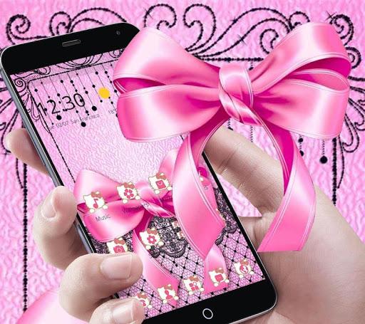 Pink Kitty Silken Bowknot Theme 1.1.1 screenshots 5