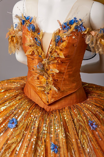 Detail of the tutu for the Fairy of Generosity in David McAllister's The Sleeping Beauty