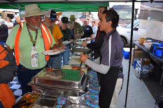 Photo: BBQ serving line