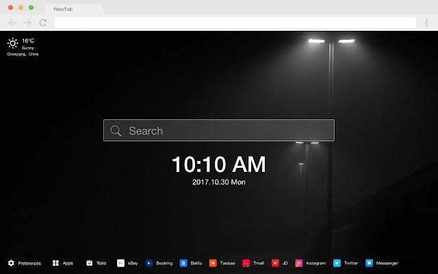 Dark pop HD wallpaper new tab page theme