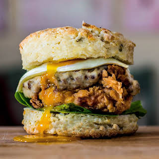 Fried Chicken & Biscuit Burger with Country Sausage Gravy.