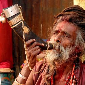 DEVOTEE by Ajit Kumar Majhi - People Portraits of Men (  )