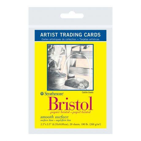 Strathmore Artist Trading Cards 2.5X3.5 20/Pkg - Bristol Smooth