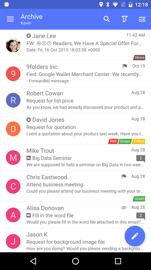 Nine Mail - Best Biz Email App- screenshot