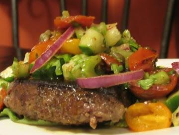Ethiopian Sirloin Steak With Roasted Tomato Salad Recipe